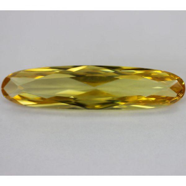 Циркон овал, 46 х 11 мм, цвят жълт