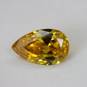 Циркон капка, 25х17мм, цвят жълт