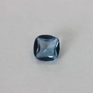 Синтетичен камък, 10 х 10 мм, цвят аквамарин