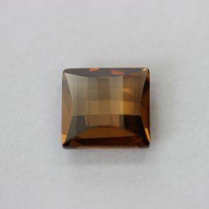 Синтетичен камък, каре 12 х 12мм, цвят кафе