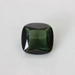 Синтетичен камък, 12 х 12 мм, цвят зелен турмалин