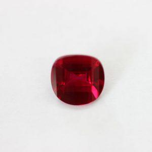 Синтетичен камък, 10.00 мм, цвят рубин