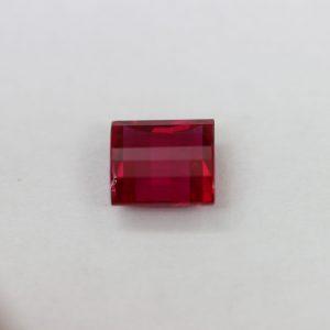 Синтетичен корунд, форма багет,фенси,9 х 8, цвят рубин