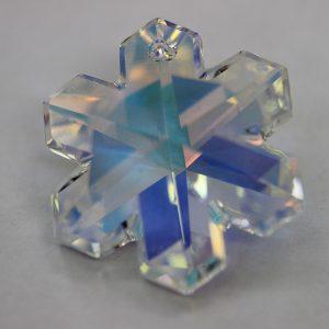 Кристален камък, форма снежинка, 25 мм, АВ ефект