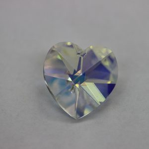 Кристален камък, форма сърце, 18.00 мм, цвят кристал АВ