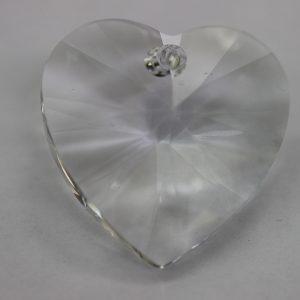 Кристален камък, сърце, 28.00  мм, цвят кристал