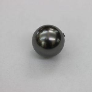 Перла, 12.00 мм, тъмно сива