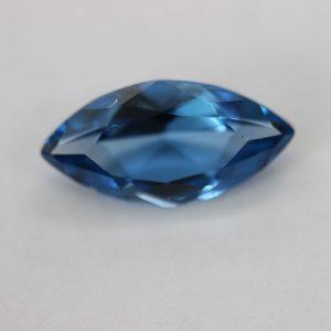 Синтетичен камък, форма маркиз 20 х 10 мм, цвят аквамарин