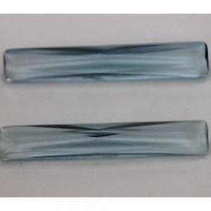 Синтетичен камък, форма багет 30 х 5 мм, цвят гранат